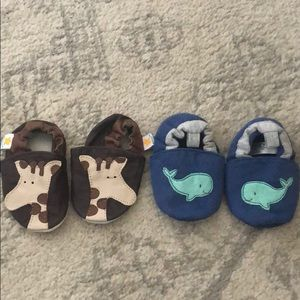 Baby Boy 0-6 Mo Crib Shoes